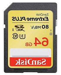 SanDisk Extreme Plus 64GB UHS-1/U3 SDXC Memory Card Up To