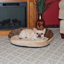 K & H Manufacturing Plush Bolster Leopard Bolster Dog Bed