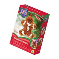 Plush Craft Fabric By Number Ornament Kit-Gingerbread Man