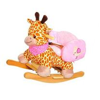 Qaba Plush Kids Ride On Rocking Horse Giraffe with Sound