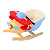 Qaba Kids Plush Rocking Horse Airplane w/ Nursery Rhyme