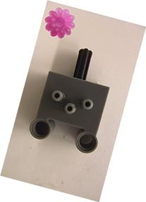 LEGO Pneumatic switch with pin in new dark grey with