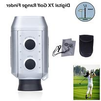 Sunsbell® Digital 7x Pocket Golf Range Finder Golf Scope