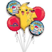 Pokemon Pikachu and Friends Birthday 5 Mylar Balloons