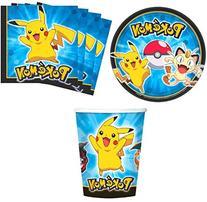 Pokemon Pikachu & Friends Birthday Party Supplies Set Plates