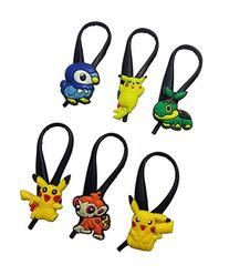 Pokemon Pikachu Silicone Snap Lock Zipper Pulls 6 Pcs Set #1