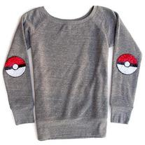Pokemon Shirt Tumblr Shirt Sequin Poke Ball Elbow Patch Poke