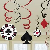 Amscan Casino Swirl Hanging Party Decoration , Multi Color,