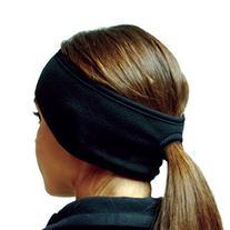 Hot Headz Polarex Fleece Ponytail Ear Warmer Headband -