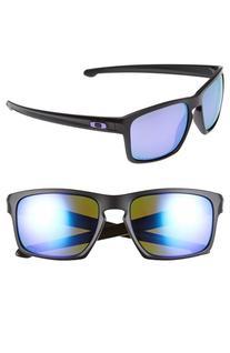 Men's Oakley 'Silver' 59mm Polarized Sunglasses - Matte