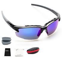 Shieldo Polarized Sports Sunglasses for men & women Golf