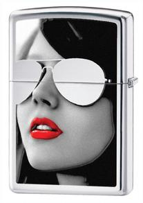 Zippo Sunglasses Pocket Lighter, High Polish Chrome