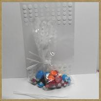 100pcs 4x 6 polka dot cello bags + 100 matched twist ties