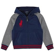 Ralph Lauren Polo Boys Fleece Big Pony Baseball Jacket