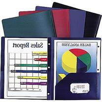 Staples Poly 2-Pocket Folder w/Prong Fasteners, Blue, Each