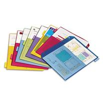-- Poly 2-Pocket Index Dividers, Letter, Assorted, 8-Tabs/