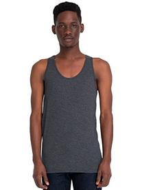 American Apparel Men's Poly-Cotton Tank - Heather Black -