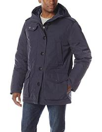 Tommy Hilfiger Men's Poly Twill Full Length Hooded Parka,