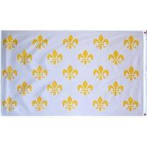 3x5 Foot Polyester White Fleur De Lis Flag