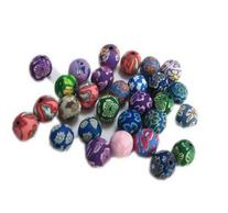 200 PCS Polymer Clay Beads Round Exotic Beads for Craft,