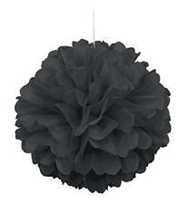 "Tissue Paper Pom Pom 16"" Black"