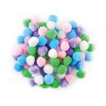 Pom-Poms 1 80/Pkg-Assorted Pastel