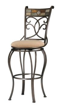 Hillsdale Pompei Swivel Bar Stool