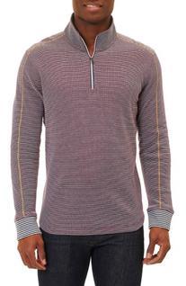 Men's Robert Graham Poole Regular Fit Quarter Zip Pullover,