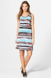 Women's kensie 'Paint Streaks' Popover Dress, Size Medium -