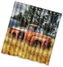 "Popular design Abandoned Farm Truck Shower Curtain 66"" x 72"
