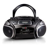 AXESS PB2705 Portable Boombox with AM/FM Radio, CD/MP3 Player, USB/SD, Cassette Recorder and Headphone Jack