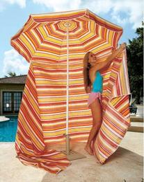Portable Cabana in Orange - Beach and Spring Break