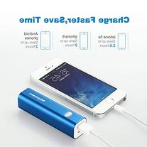 Portable Charger,Mopower 3000mAh Power Bank Lipstick-shaped