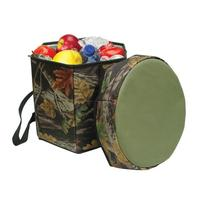 Camo Portable Folding Insulated Game Beverage Cooler Seat