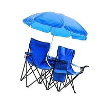 Triprel Inc. Portable Folding Picnic Double Chair W/Umbrella