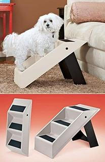 Portable Plastic Folding 3-Step Pet Stairs Climber For
