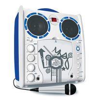 Portable SML-383 CDG Karaoke Player - White/Blue