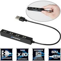 Sabrent 4 Port Portable USB 2.0 Hub  for Ultra Book, MacBook