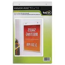 "NuDell 11"" x 17"" Portrait Wall Mount Plastic Sign Holder,"