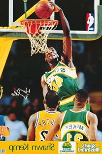 POSTER - Shawn Kemp Seattle Sonics NBA Authentic 1991 Sports