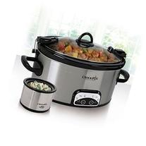 6 Quart Crock Pot with Lil Dipper - Stainless Steel by 6