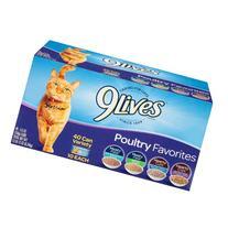 9Lives Poultry Favorites Wet Cat Food Variety Pack, 5.5-