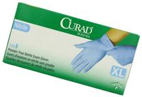 Curad Powder-Free Nitrile, Medium, 150 Count