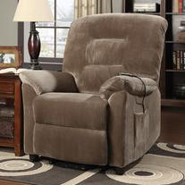 Coaster Power Lift Recliner in Brown Sugar