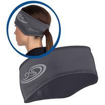 TrailHeads Women's Power Ponytail Headband - cold smoke grey
