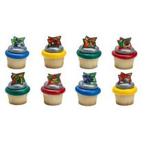 Power Rangers Dino Charge Cupcake Rings - 24 ct