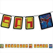 Power Rangers 'Red Ranger' Happy Birthday Banner
