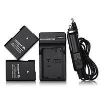 Powerextra EN-EL14 EN-EL14a 2 x Battery & Car Charger Compatible with Nikon D3100 D3200 D3300 D3400 D3500 D5100 D5200 D5300 D5500 D5600 P7000 P7100