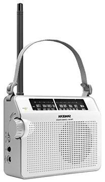 Sangean PR-D6WH AM/FM Compact Analog Portable Radio