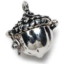 Prayer Box Metal Charm 1/Pkg-Antique Silver Acorn